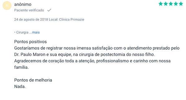 Dr. Paulo Maron depoimento 2